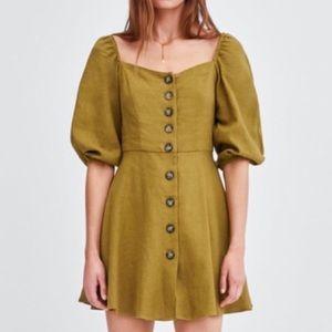 Trf Zara • Square neck dress